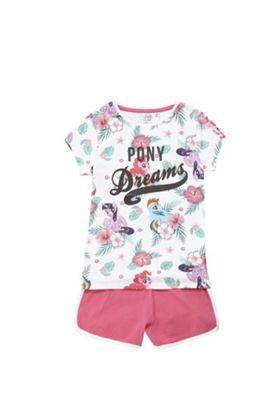 Hasbro My Little Pony Glitter Slogan Short Pyjamas Multi 3-4 years