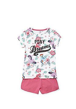 Hasbro My Little Pony Glitter Slogan Short Pyjamas - Multi