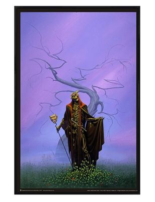 Michael Whelan Gloss Black Framed Destroying Angel Poster