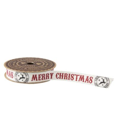 Merry Christmas Reindeer Ribbon