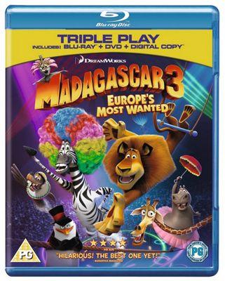Madagascar 3: Europe'S Most Wanted Blu-Ray Triple Play (Blu-Ray + DVD + Digital Copy)