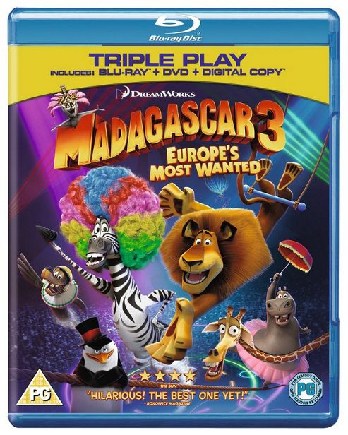 Madagascar 3: Europe'S Most Wanted Blu-Ray Triple Play (Blu-Ray + DVD + Digital Copy)
