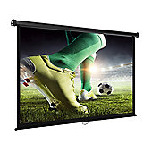 "90"" VonHaus Self Locking Manual Projector Screen in White"