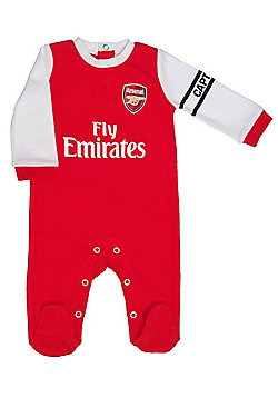 Arsenal Baby Core Kit Sleepsuit - 2016/17 Season - Red