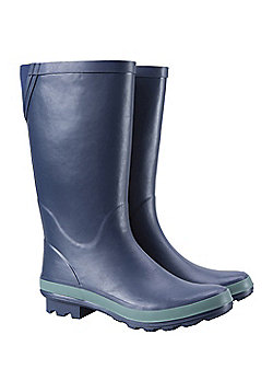 Mountain Warehouse Womens Stream Wellies w/ Soft Fabric Lining and EVA Footbed - Black