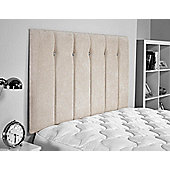 ValuFurniture Jubilee Chenille Fabric Headboard - Cream - Single 3ft