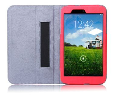 hudl2 Red Faux Leather Case