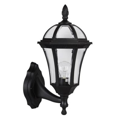 Modern Hayfield IP44 Outdoor Wall Light in Black