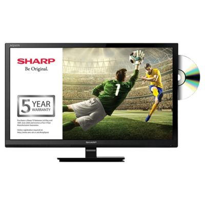 Sharp 24 Inch LC-24DHF4011K DVD Combi HD Ready LED  TV with Freeview HD
