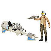 Star Wars 30cm Speeder Bike and Poe Dameron Figure