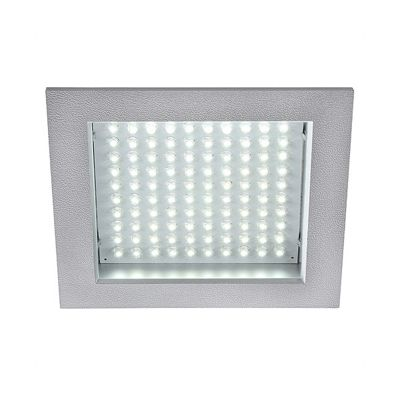 led Panel Downlight Square Silvergrey 8.5W White LED