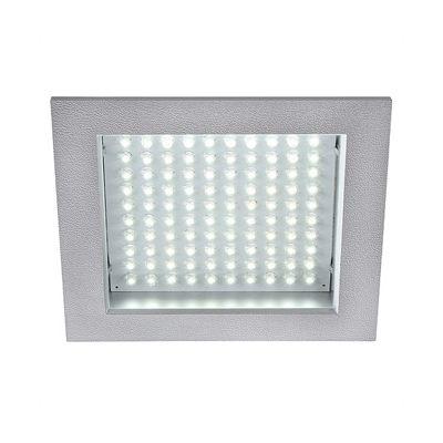 led Panel Downlight Square Silvergrey 8.5W White LED