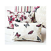 Dreams n Drapes Sakura Cranberry Cushion Cover - 28x38cm