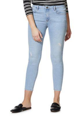 F&F Push-Up Low Rise Skinny Jeans Bleach Wash 16 Regular leg