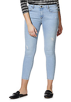 F&F Push-Up Low Rise Skinny Jeans - Bleach wash