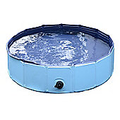 PawHut Pet Swimming Foldable Tub Pool Dog Puppy Indoor / Outdoor (Blue, 80 × 30H)