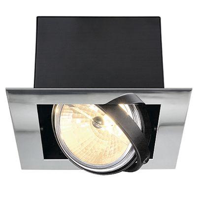 Aixlight Flat Single Recessed Downlight Chrome/Matte Black Max. 50W