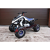 Hawkmoto Intruder 200cc CVT Quad Bike Blue and White