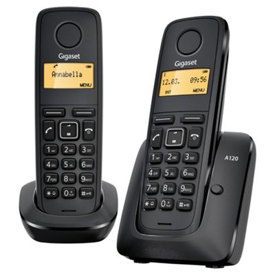 Gigaset A120 DECT Phone (Duo Pack)