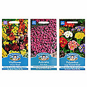 Mr Fothergill's Seeds - Early Spring Colour Flower Collection - 3pc Multipack