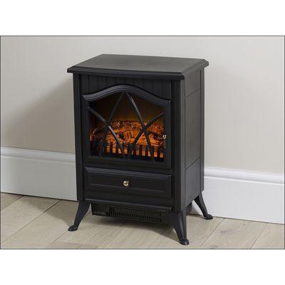 Daewoo 1850w Stove Heater - Black