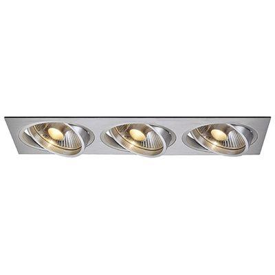 Tria Downlight Rectangular Aluminium-Brushed Max. 3X 75W