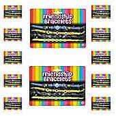 12 X 4pc Friendship Bracelets on Card