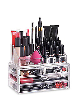 Beautify Clear Acrylic 4 Drawers Cosmetic Table Organiser