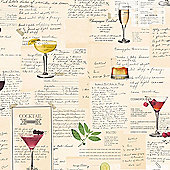 Superfresco Easy Cocktails Paste The Wall Multi Wallpaper