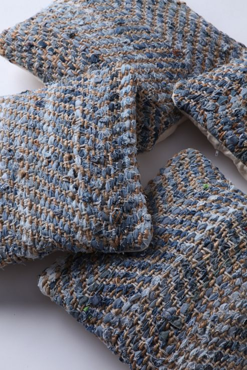 Wilkinson Furniture Union Cushion in Distressed Blue