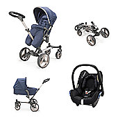 Mee-Go Inspire/Maxi Cosi Travel System - Blue Denim