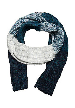 Mountain Warehouse Vienna Womens Scarf Warm and Soft w/ Anti-pill and Loose knit - Blue