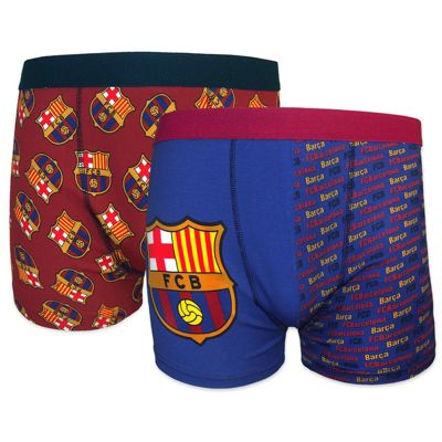 FC Barcelona Mens Boxer Shorts 2 Pack Small