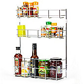 Andrew James 3 Tier Spice Rack & Small Bottle Holder - Wall or Door Mount - Fittings Inc.