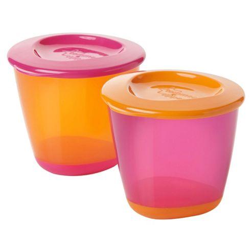 Tommee Tippee Explora Pop-Base 4oz Food Pots X2