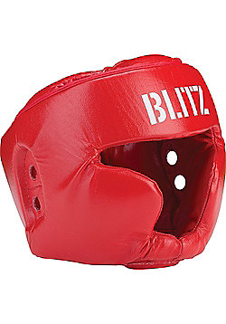 Blitz - Pro Boxing Full Face Head Guard - Red