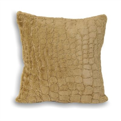 Riva Home Alligator Taupe Cushion Cover - 55x55cm