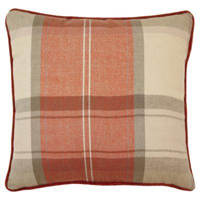Buy Orange Check Cushion From Our Cushions Range Tesco