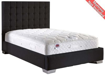 ValuFurniture Coppella Chenille Fabric Divan Bed Frame - Charcoal - Small Single - 2ft 6