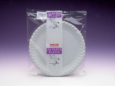 Caroline 1401 Paper Plates White 7in X20