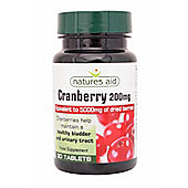 Natures Aid Cranberry 200mg - 30 Tablets