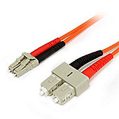 StarTech Duplex MM Fiber Optic Cable LC-SC (3m)