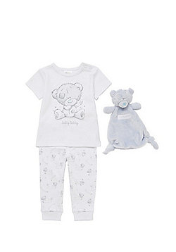Me To You Tiny Tatty Teddy Pyjamas with Comforter - White