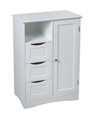 New Hampshire Double Space Cabinet-White