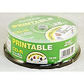 Fujifilm CD-R 700MB 52X Spindle of 25 - Printable Inkjet