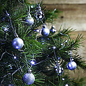 36pcs 3cm Shatterproof Silver Christmas Tree Mini Bauble Decorations