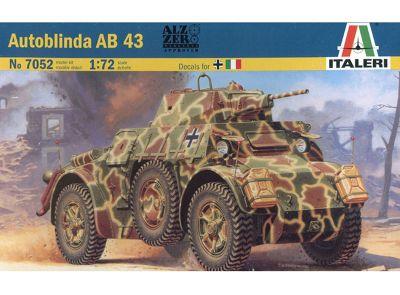 Italeri Autoblinda Ab 43 7052 1:72 Military Vehicle Model Kit