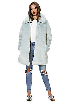 F&F Faux Fur Coat - Mint green