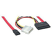 StarTech Serial ATA / SATA cable - Serial ATA 150 - 7 pin Serial ATA 15 pin SATA power - 4 pin internal power 7 pin Serial ATA - 18in
