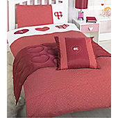 Red Polka Dot Love Heart 4 Piece Bed Set